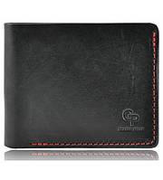 Мужской кошелек кожаный Grande Pelle red&black, фото 1