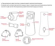 УЛЬТРАЗВУКОВИЙ МЕШ ІНГАЛЯТОР MEDICA+ BREATH СONTROL 7.0 (ЯПОНІЯ), фото 2