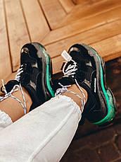 Женские кроссовки Balenciaga Triple S Clear Sole Black/Neon Green 541624W09ON1047, фото 2