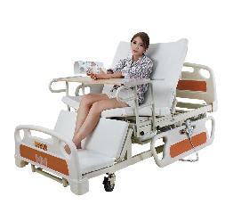 Медицинская функциональная электро кровать с туалетом E39. Большой размер (длина). Кровать для инвалида.