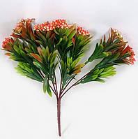 """С розовым 33см """"бузины""""искусственный зеленый куст с мелкими ягодами, фото 1"""