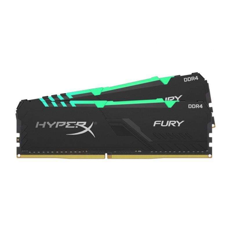 Оперативная память Модуль памяти ОЗУ DDR4 2x32GB/3600 Kingston HyperX Fury RGB Black (HX436C18FB3AK2/64)