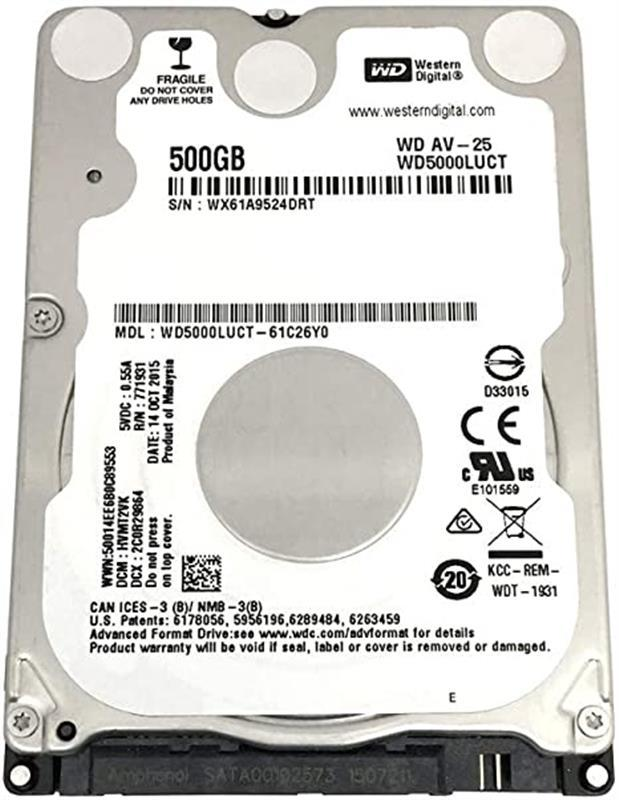 """HDD 2.5"""" SATA 500GB WD AV-25 5400rpm 16MB (WD5000LUCT)"""