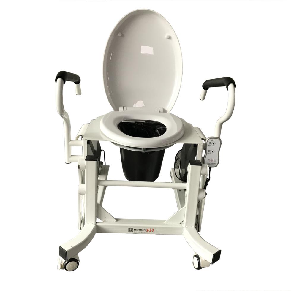 Кресло для туалета c подъемным устройством и подставным судном LWY-002.