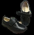 Шкіряні чорні туфлі-мокасіні хлопчикові, розмір 36 устілка 23 см, фото 5