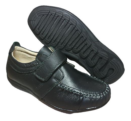 Шкіряні чорні туфлі-мокасіні хлопчикові, розмір 36 устілка 23 см