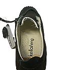Шкіряні чорні туфлі-мокасіні хлопчикові, розмір 36 устілка 23 см, фото 2