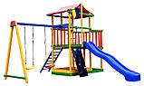 Детский игровой комплекс Babyland-11 (Sportbaby ТМ) игровая площадка качели горка песочница домик, фото 2