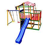 Детский игровой комплекс Babyland-11 (Sportbaby ТМ) игровая площадка качели горка песочница домик, фото 3