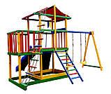 Детский игровой комплекс Babyland-11 (Sportbaby ТМ) игровая площадка качели горка песочница домик, фото 4