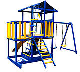 Детский игровой комплекс Babyland-11 (Sportbaby ТМ) игровая площадка качели горка песочница домик, фото 5