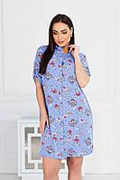 Женское платье на пуговицах большого размера.Размеры:50/60+Цвета, фото 1