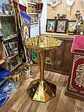 Підсвічник великий з булату на 70 свічок (нітрид титану), фото 2