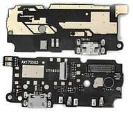 Нижня плата Xiaomi Redmi Note 4 MediaTek з роз'ємом зарядки і мікрофоном (вузький)
