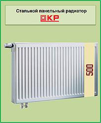 Радиатор стальной КР 22k 500*500 нижнее подключение с термоклапаном