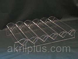 Підставка для макарун на 6 знімних доріжок з прозорого акрилу