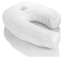 Подголовная ортопедическая подушка эргономичная для сна с отверстием для уха на одну сторону Сайд Слиппер.