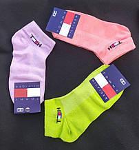 Набір жіночих шкарпеток Tommy Hilfiger (3 шт) короткі сітка бавовна розмір 36-40 мікс (рожеві, бузкові,