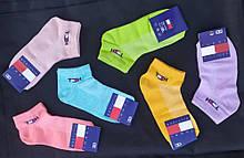 Набір жіночих шкарпеток Tommy Hilfiger (12 шт) короткі сітка бавовна розмір 36-40 мікс (рожеві, бузкові,
