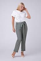 Стильні штани в смужку, великих розмірів
