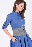 Сукня-сорочка з широким поясом, фото 1