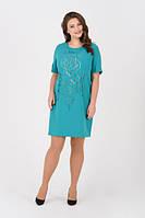 Ошатне плаття з вишивкою, великі розміри, фото 1