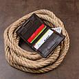 Вертикальное портмоне-кредитница комби в гладкой коже GRANDE PELLE 11328 Коричневое, фото 8