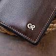 Вертикальное портмоне-кредитница комби в гладкой коже GRANDE PELLE 11328 Коричневое, фото 9