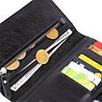 Вертикальний гаманець глянцевий Anet на кнопці GRANDE PELLE 11324 Чорний, фото 4