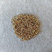 Стразы камушки цвет золотистый d-3(+-)мм уп.\10гр.(+-)