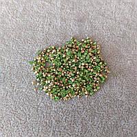 Стразы камушки цвет салатовый d-3(+-)мм уп.\10гр.(+-)