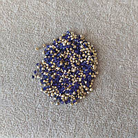 Стразы камушки цвет темно синий d-3(+-)мм уп.\10гр.(+-)