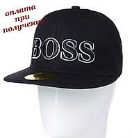 Мужская молодежная модная и стильная кепка реперка блайзер прямой козырек Snapback BOSS