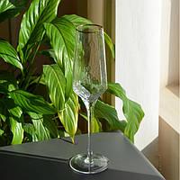 Бокал под шампанское с золотым ободком прозрачный 300мл SKL11-290710