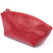 Женская косметичка из кожи Amelin GRANDE PELLE 11303 Красная