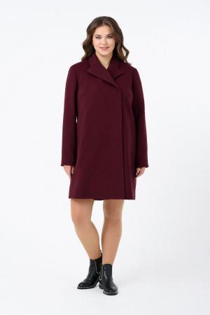 Пальто Evdress 2XL бордовый
