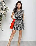 Черно-белое леопардовое платье на кулиске, фото 4