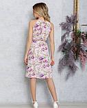 Рожеве плаття з запахом і воланом, фото 3