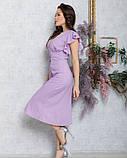 Сиреневое коттоновое платье на пуговицах, фото 2