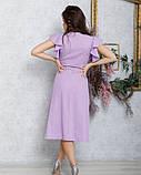 Сиреневое коттоновое платье на пуговицах, фото 3