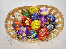 Яйца деревянные пысанка средние к Пасхе 45*35мм