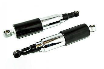 Амортизаторы (пара) ЯВА 320мм, регулируемые, закрытые, черные (TM) EVO