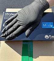 Перчатки нитриловые NITRYLEX BASIC BLACK черные M, 100 шт 50 пар