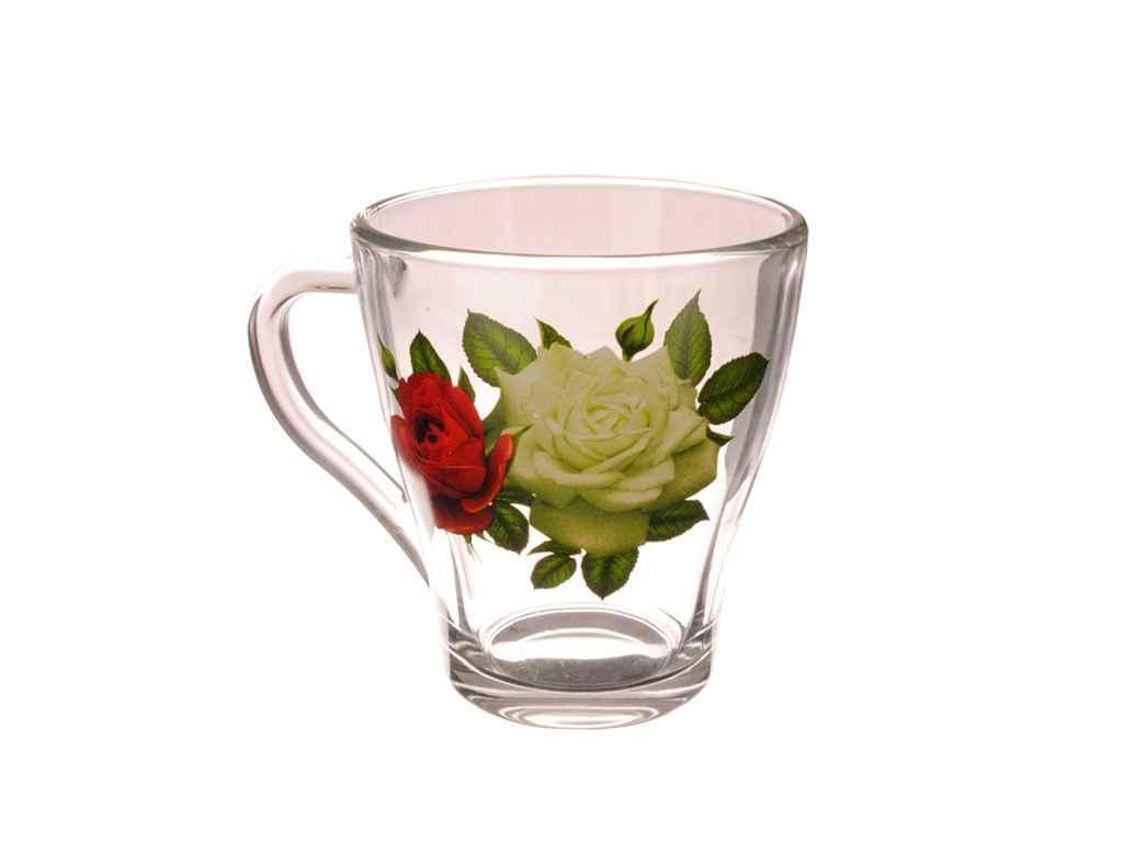 Чашка стекло ОСЗ Грация Букет роз 250 мл