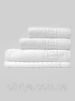 Махрові рушники для готелів білі, фото 2
