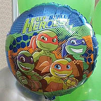 Фольгированный шар с гелием Черепашки ниндзя.  46 см 👉 варианты