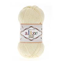 Alize Cotton Gold Hobby (Алізе Котон Голд Хобі) № 01 кремовий (Пряжа бавовна, нитки для в'язання)