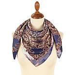 10292-14, павлопосадский платок из вискозы с подрубкой 80х80, фото 2