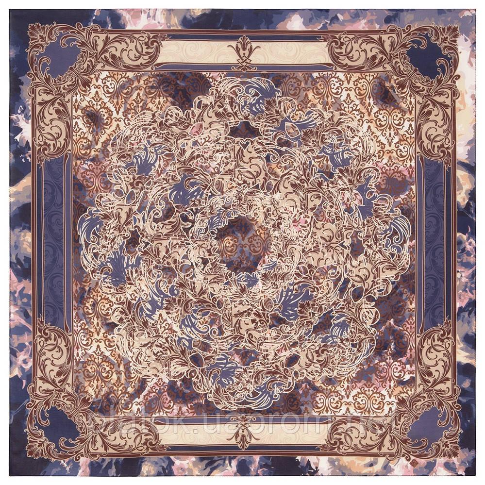 10292-14, павлопосадский платок из вискозы с подрубкой 80х80
