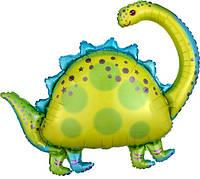 Triceratops фольгированный шар с гелием динозавр, 106 см